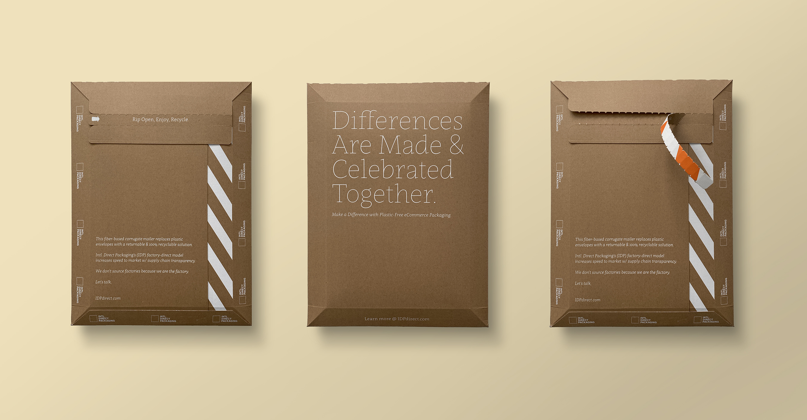 Recyclable Poly Mailers Packaging Design